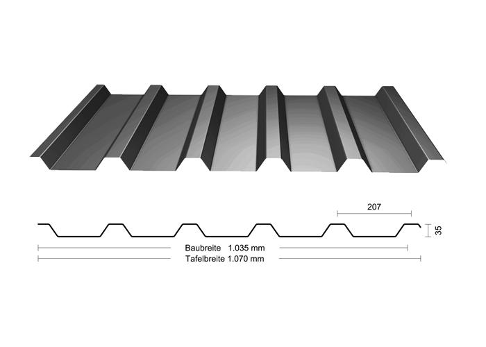 trapezprofil 35 207 laukien gmbh. Black Bedroom Furniture Sets. Home Design Ideas